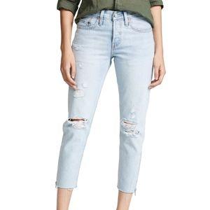 Levi 501 DIY Taper Part Time Lover Crop Jeans 29